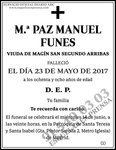 M.ª Paz Manuel Funes